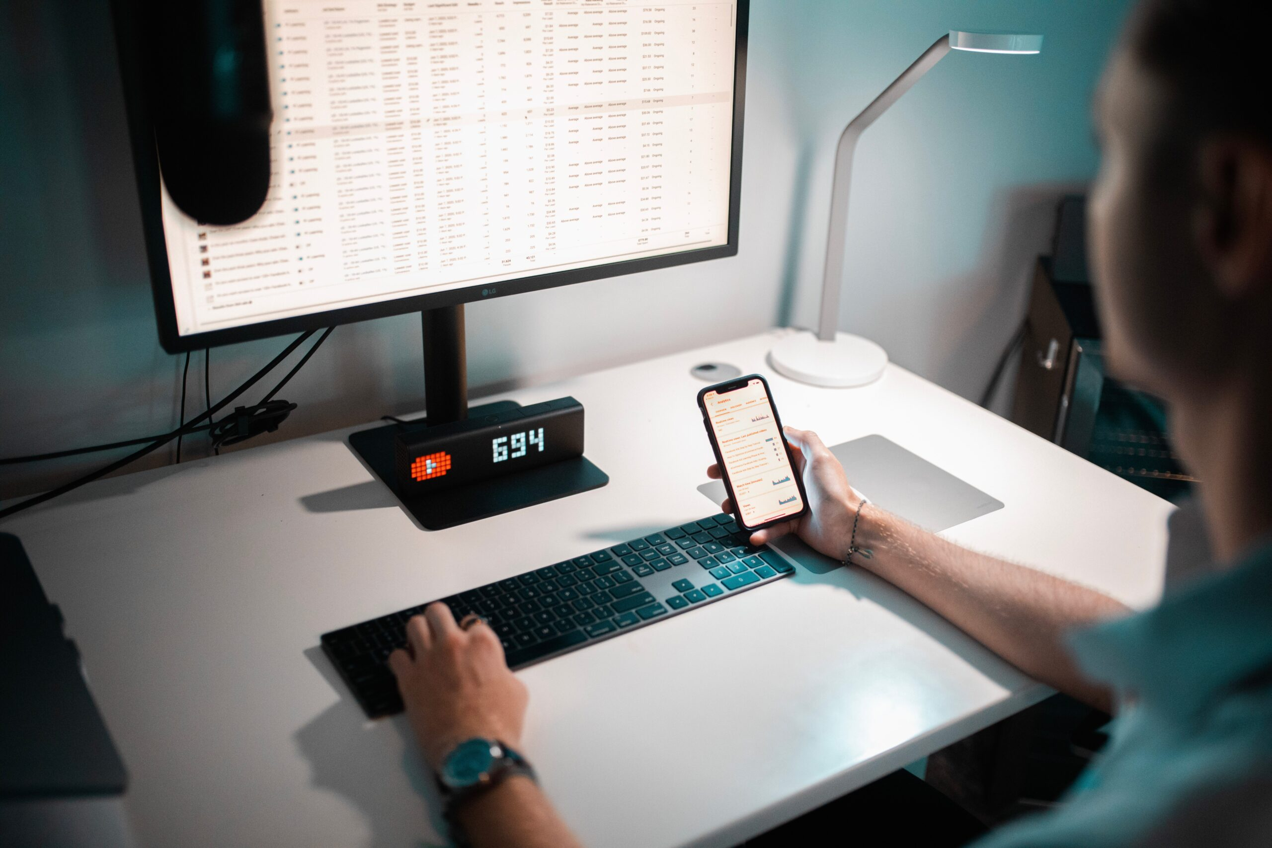 Trader working on a screen